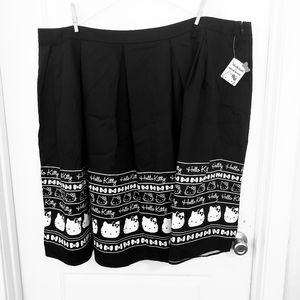Modcloth nwt black midi Hello Kitty skirt sz 4X